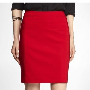 EXPRESS ❤️ Red Pencil Skirt, Size 10